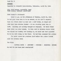 Nutshell Studies of Unexplained Death: Case No. 4. Kitchen.  Page 01-03.