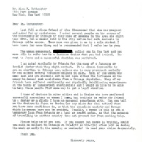 Letter to Guttmacher from Chicago, Illinois