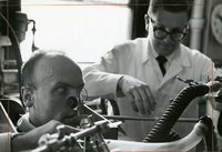 Joseph Milic-Emili and Vlad Fencl measure breath with a Plethysmograph