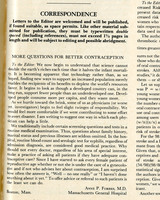 """""""More Questions for Better Contraception"""" letter to the editor of the New England Journal of Medicine"""