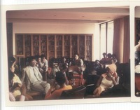 Poussaint 1970s with group of students in study.tif