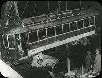 Photograph of the aftermath of the Summer Street Bridge disaster, November 8, 1916.