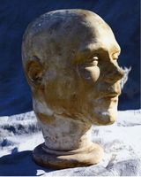 Digital print of head cast of William Burke