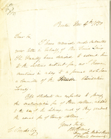 Letter from Oliver Wendell Holmes to Charles Brooks