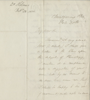 Letter from Oliver Wendell Holmes to John Collins Warren&lt;br /&gt;<br />