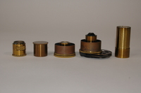 Collection of microscope lenses and objectives belonging to Roderick Heffron, 1930-1950