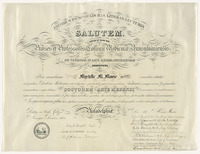 Medical diploma from Woman's Medical College of Pennsylvania