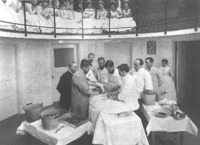 Dr. J. Collins Warren performing an abdominal operation