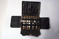 Traveling homeopathic pharmaceutical kit