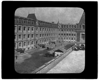 View from roof into courtyard of American Ambulance Hospital of Paris