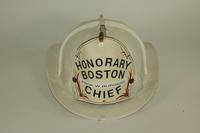 Honorary Boston fire chief helmet, 1978