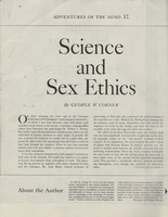 Science and Sex Ethics