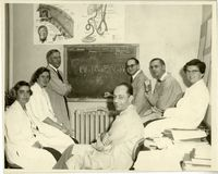 Clement Smith and lab group, Boston Lying-In Hospital