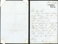 Letter from Florence Nightingale to James Davis with envelope