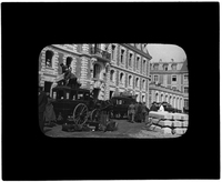 Unloading medical supplies from carriages