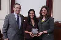 Joint Committee on the Status of Women wins Sharon P. Clayborne Staff Award, 2012