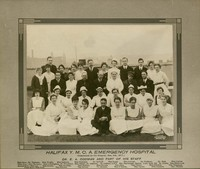 Photograph of the Halifax Y.M.C.A. Emergency Hospital staff