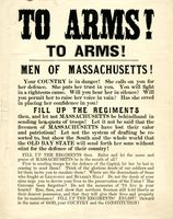 &quot;To arms! To arms! :  Men of Massachusetts! Your country is in danger!  ... <br /><br /> Fill up the regiments then, and let not Massachusetts be behindhand in sending her quota of troops ... &quot;