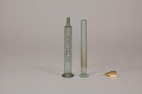 MacGregor Instrument Company 2 cc VIM emerald ground glass syringe, No. 802, 1930-1940