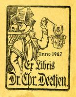 Bookplate of Christian Deetjen